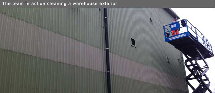 E Moore warehouse cleaning
